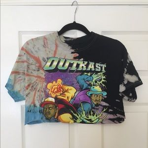 Outkast Tie Dye Cropped Shirt (Top)
